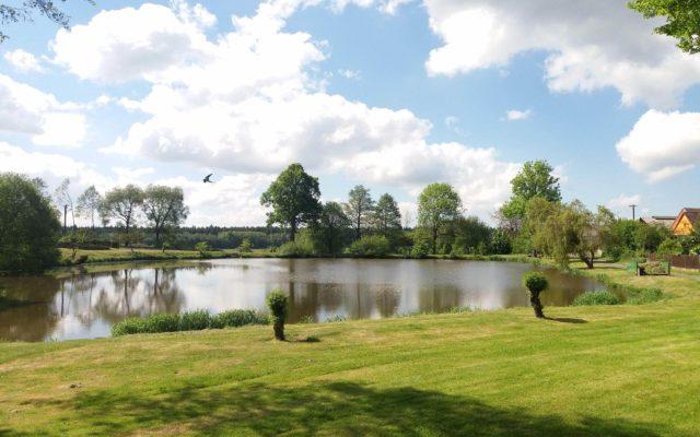 Výhled na rybník v Kajetíně
